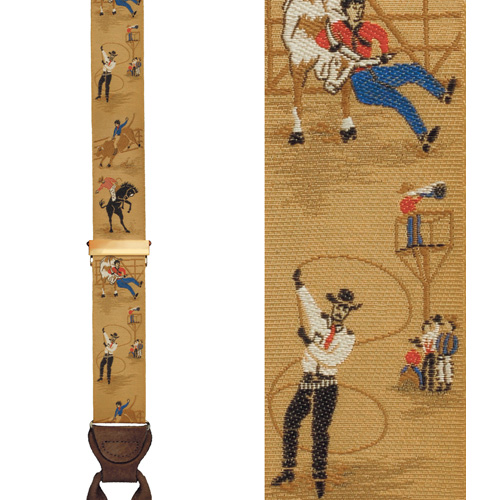 Limited Edition Rodeo Days Brace: 100% Hand Woven Silk