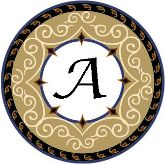 Ornate Monogram - Letter A