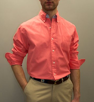 Mens coral button down shirt is shirt for Coral shirts for guys