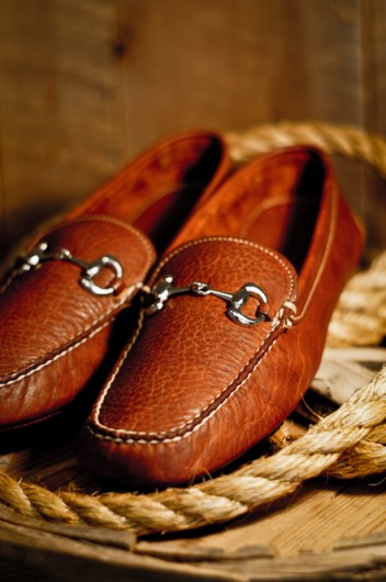 Men S Horse Bit Drive In 100 Bison Leather
