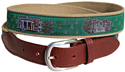 Dartmouth College Leather Tab Belt
