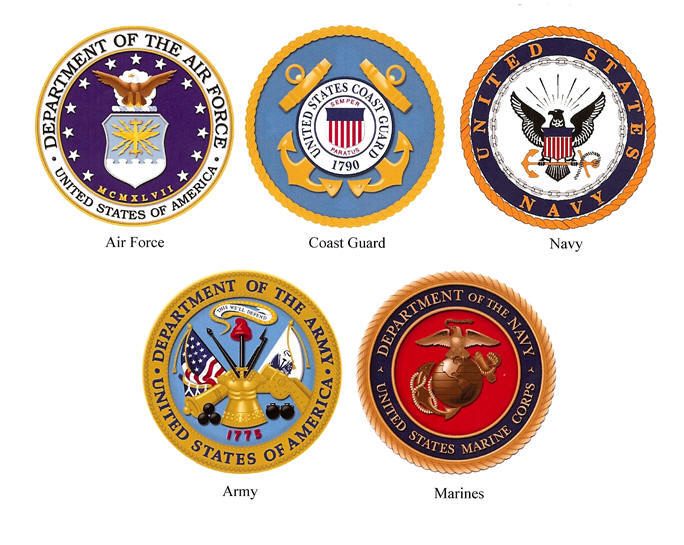 Air Fore Navy Army Marines Symbols Clipart Library