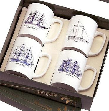 Amazing Nautical Ship Etching Barware Collection From Dann, New Loop Optic Handmade  Handblown