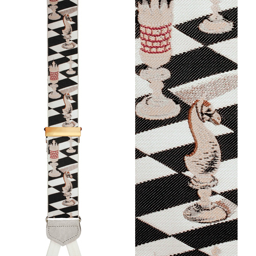 Limited Edition Checkmate Brace: 100% Hand Woven Silk