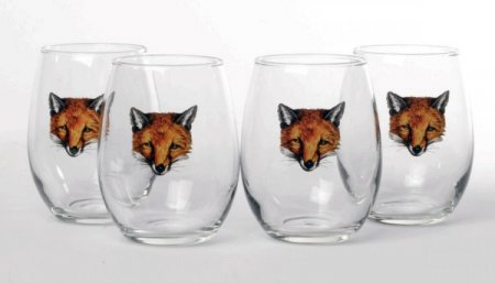 Fox 11oz Stemless Wine Glasses