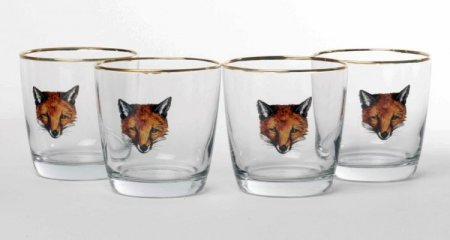 Fox 9oz Tapered Old Fashioned Glasses