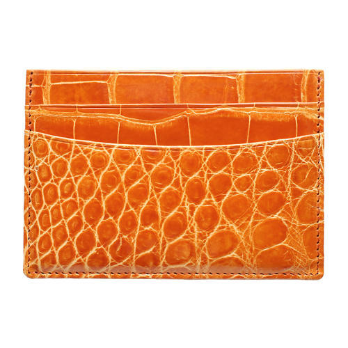 Alligator Slim Card Case Wallet: Available in 9 Colors