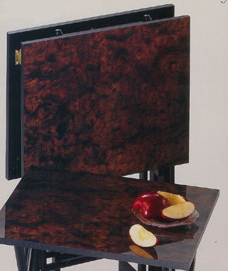 Snack Tables And TV Trays From Dann Clothing, Upscale Wooden Tray Table Sets