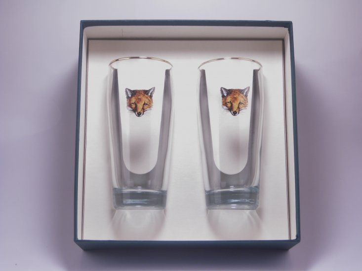 Fox, Beer Glass, 20oz - Click Image to Close