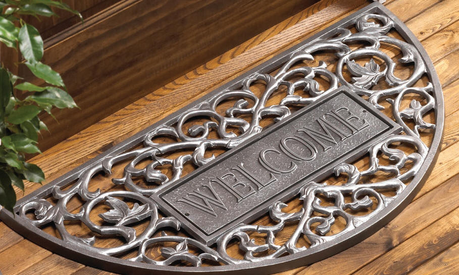 Personalized Cast Iron Doormats From Dann True Luxury
