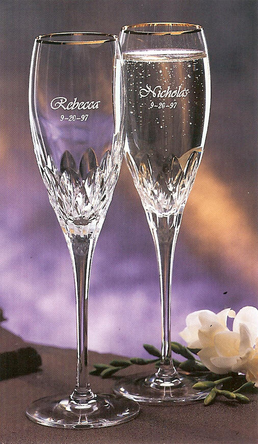 Personalized Champagne Flutes From Dann Perfect For The Bride And Groom